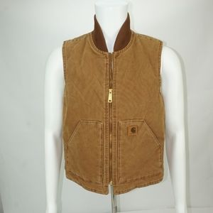 Carhartt Tan Quilted Lined Vest S